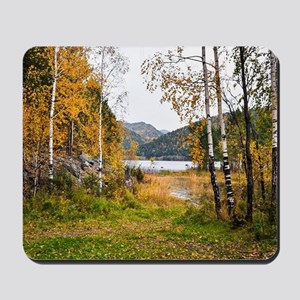 Autumn Lake View Mousepad
